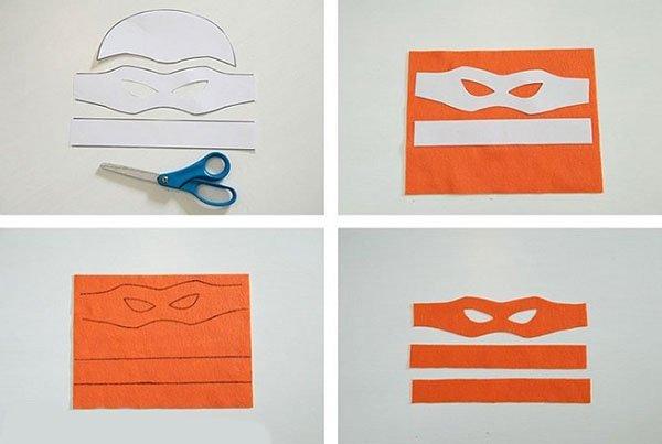 Как правильно сделать маску ниндзя