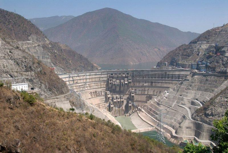 Плотина ГЭС Сяовань
