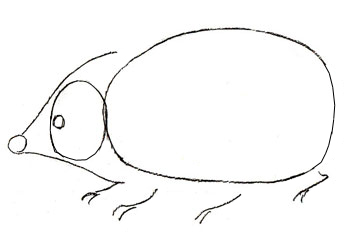 рисуем ежика пошагово