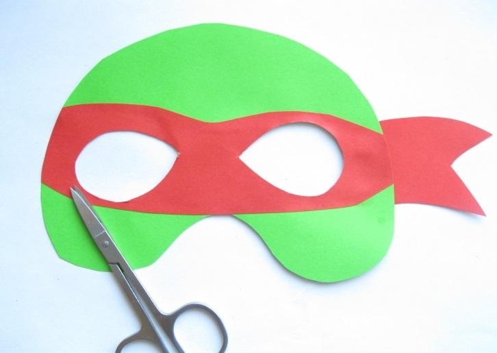 Делаем маску черепахи ниндзя