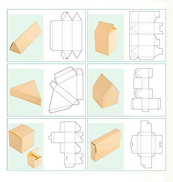 Коробка из бумаги различной формы