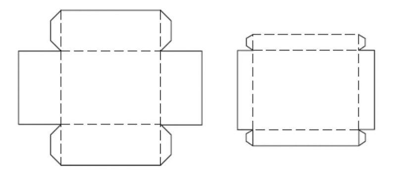 Как сделать простую коробку из бумаги