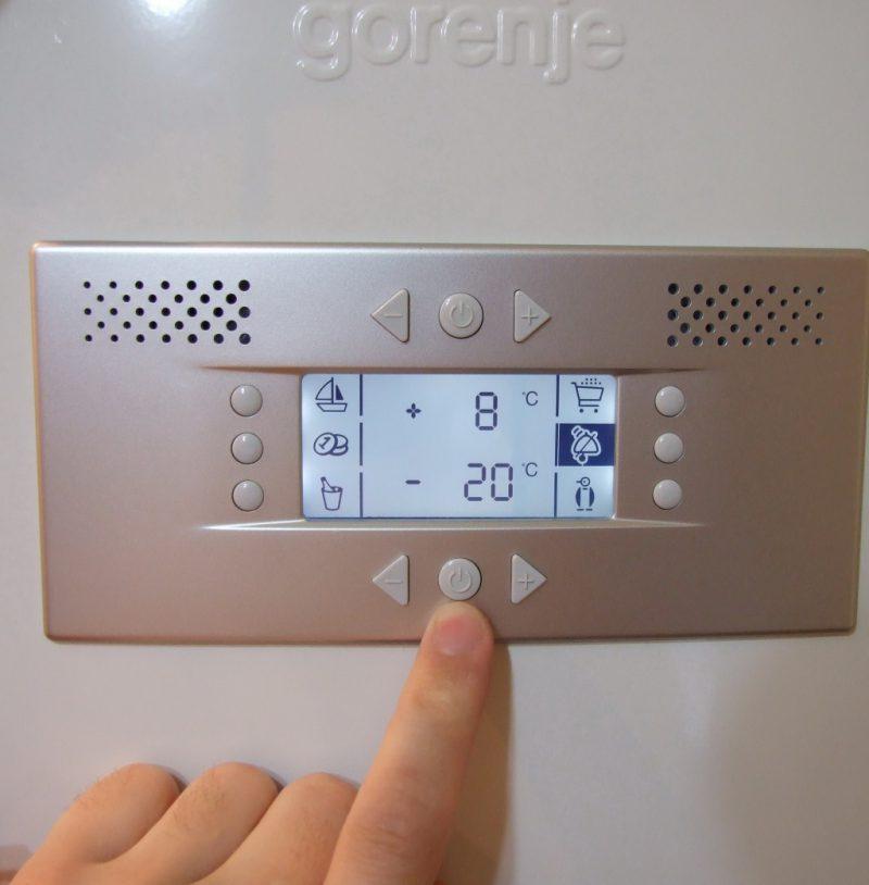 Распределение температуры по полкам