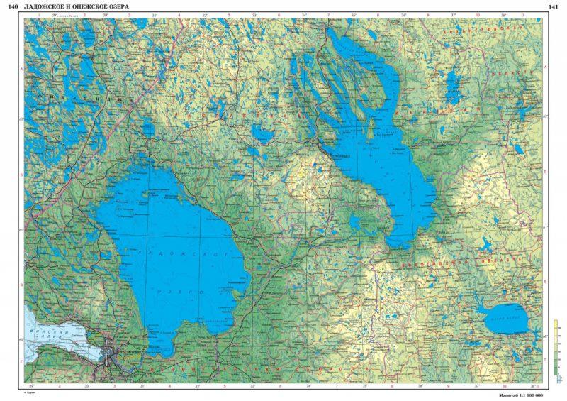 Карта Ладожское озеро