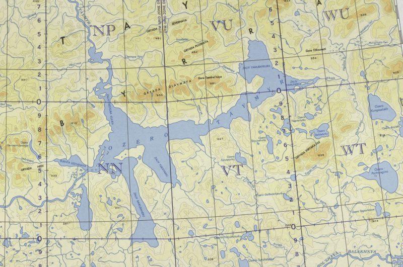 Карта озеро Таймыр