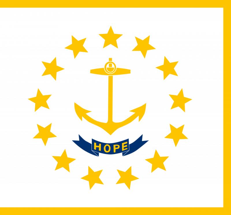 Флаг Род-Айленда