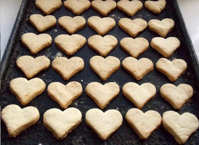 Сердечки печенье