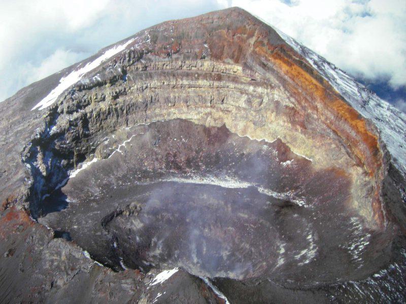 Жерло вулкана Попокатепетль, Мексика