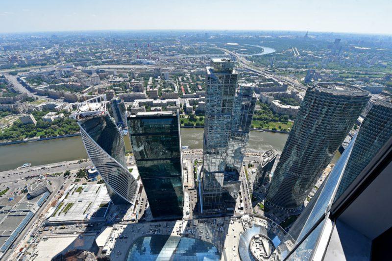 """Сверхвысокие небоскребы """"Москва-Сити"""""""