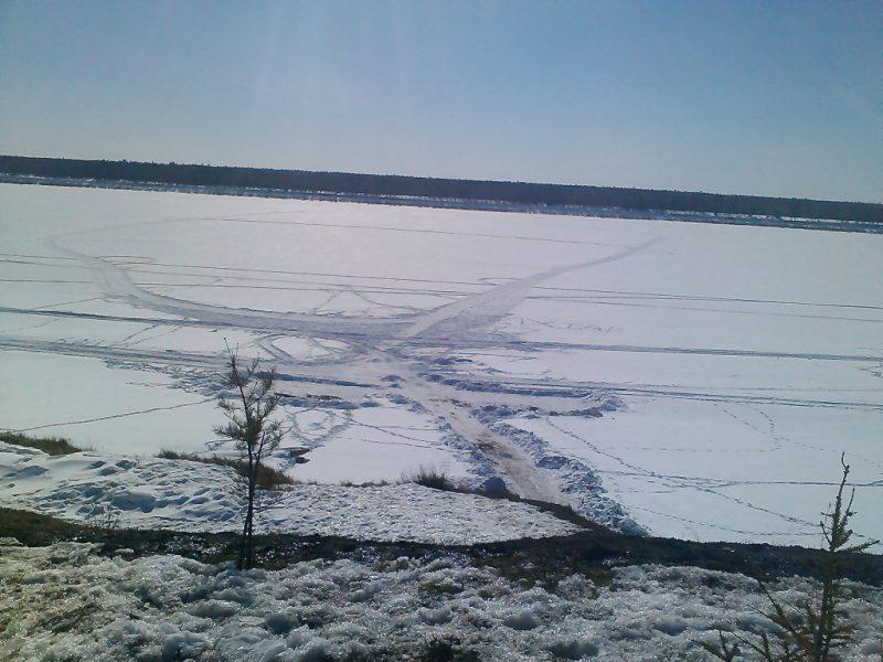 Замерзшие воды Вилюя