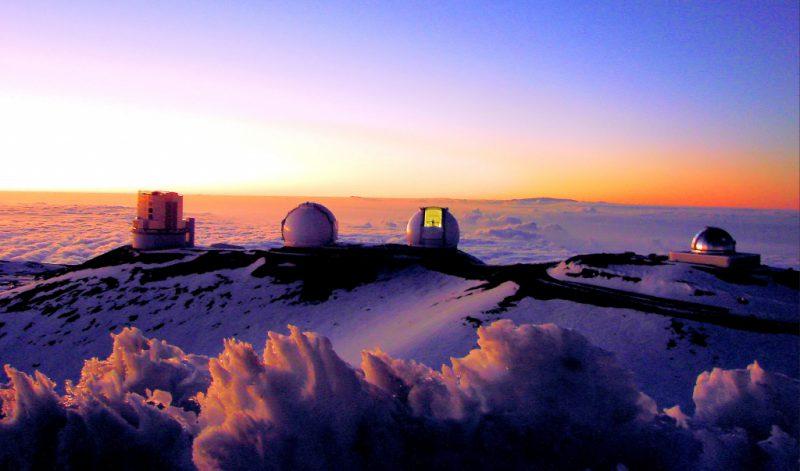 Мауна-Кеа возвышается над водой на высоту 4 205 метров