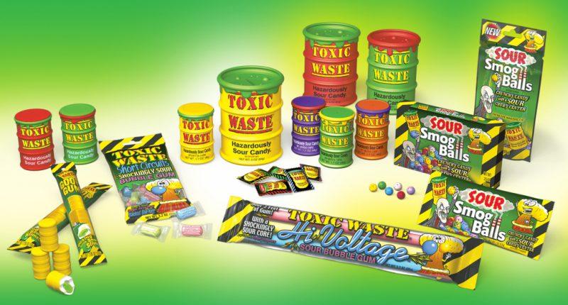 Особенность конфеты Toxic Waste
