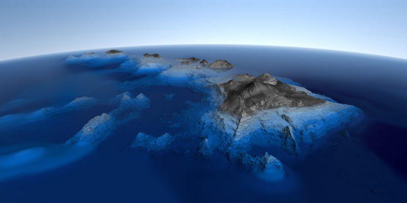 Самая высокая гора в мире с подножьем на дне океана