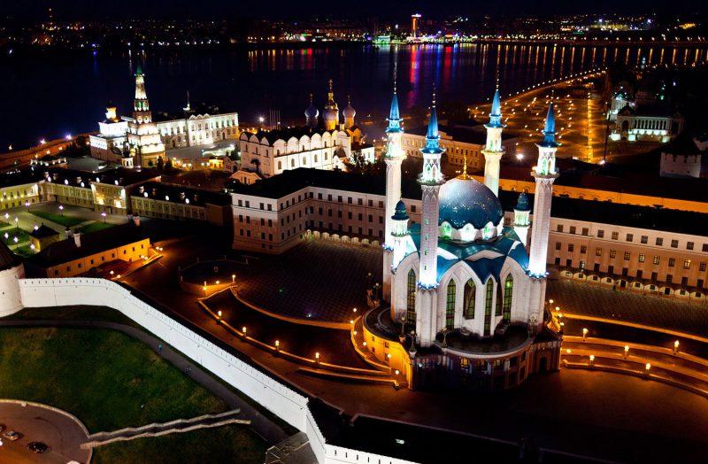 Ночная панорама Казани