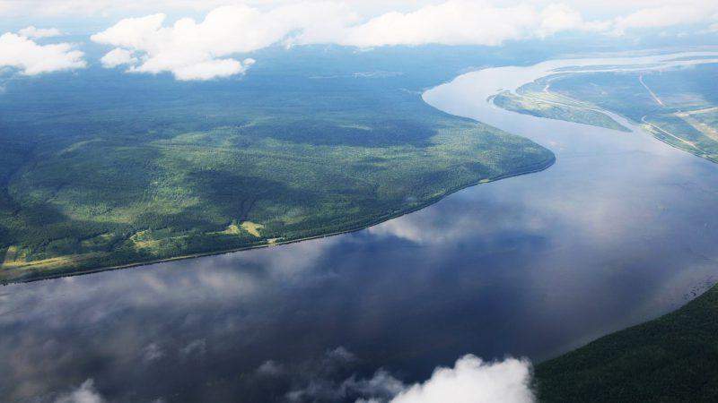 Вид на Амур с высоты птичьего полета