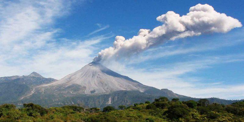 Извержение вулкана Колима
