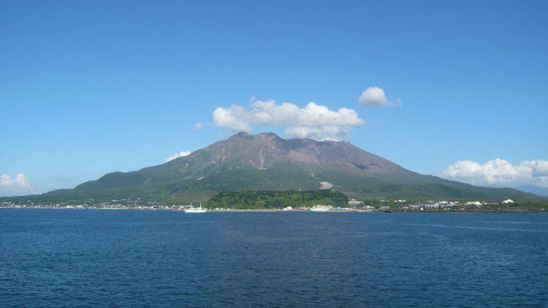 Японский вулкан Сакурадзима
