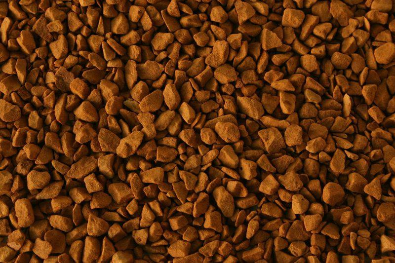Гранулы сублимированного кофе