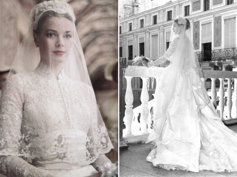 Грейс Келли на своей свадьбе