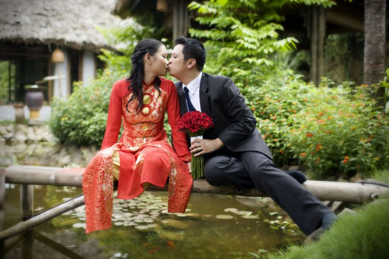 Традиционный свадебный наряд невесты из Вьетнама