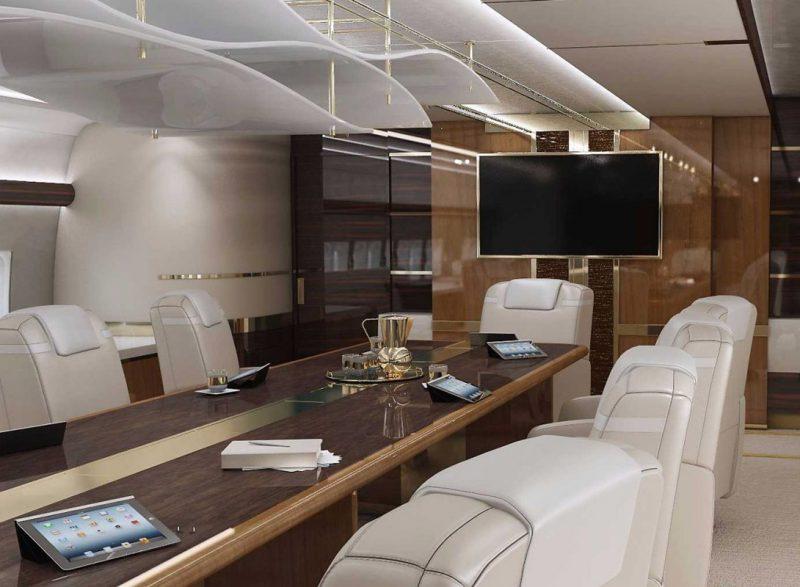 конференц-зал Boeing 747– 8 VIP