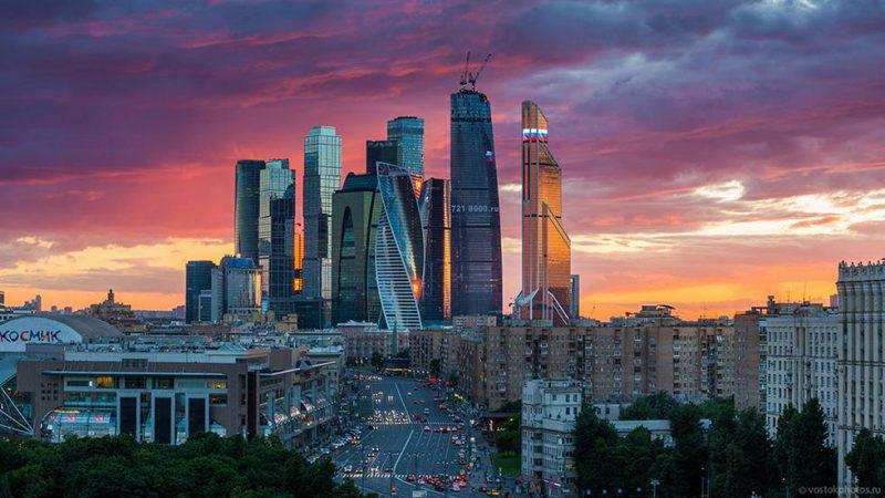общий вид Москва - Сити и Башни Федерация