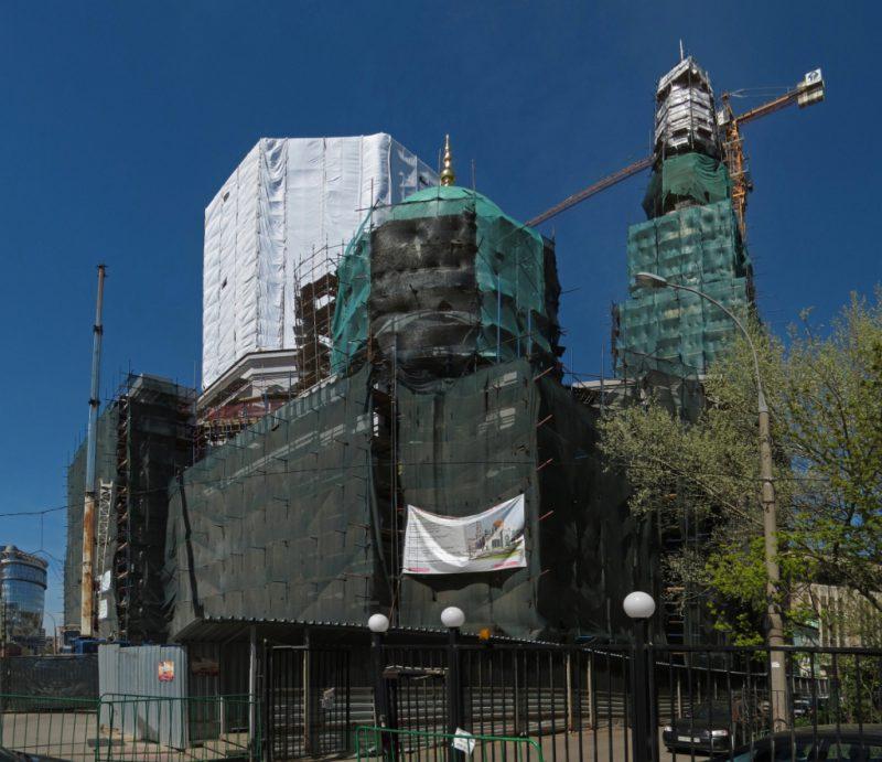 Мечеть во время реставрации