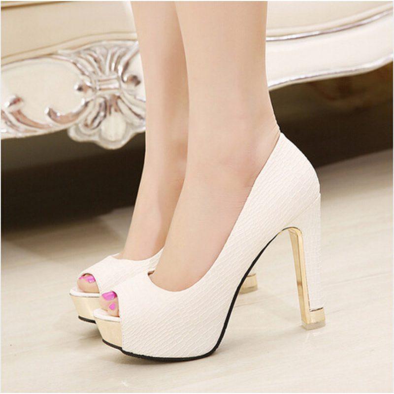 красивые туфли с открытым носком