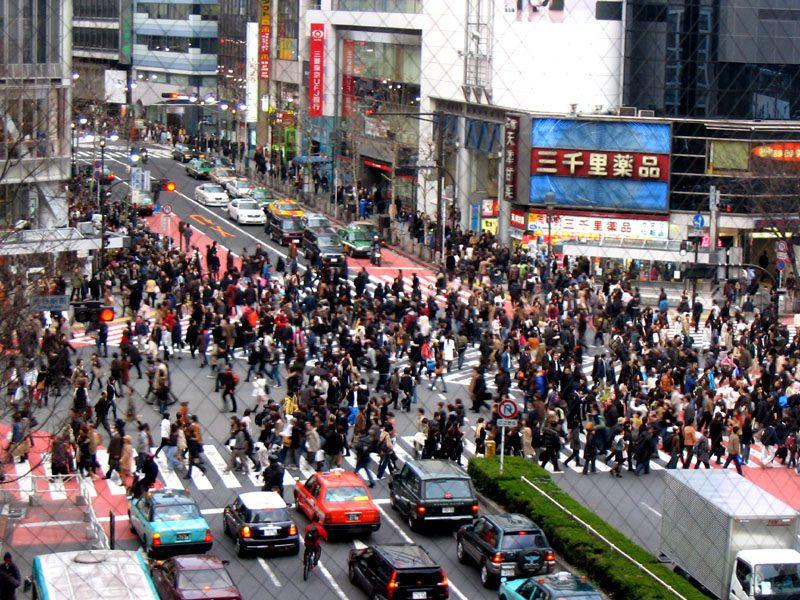 Типичная улица в Токио