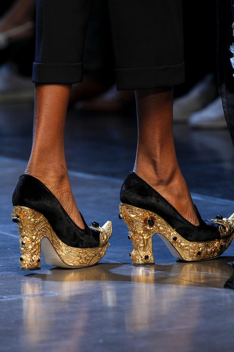 туфли с декорированным каблуком Dolce & Gabbana