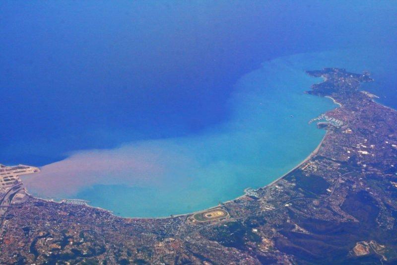 Средиземное море вид сверху