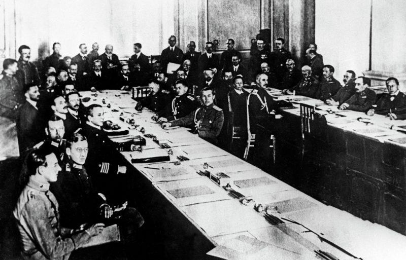 Брестский мирный договор в 1918 году