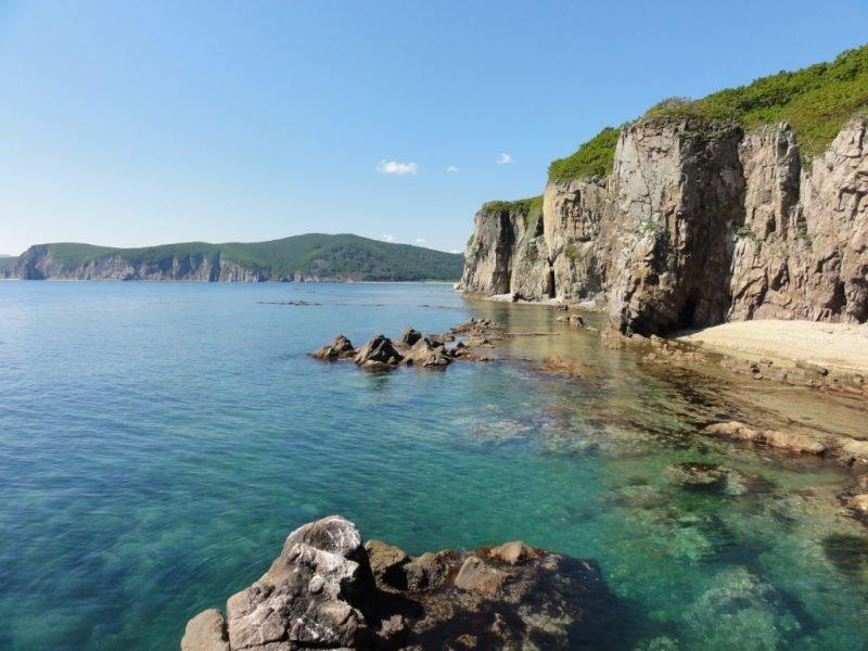 Японское море берег