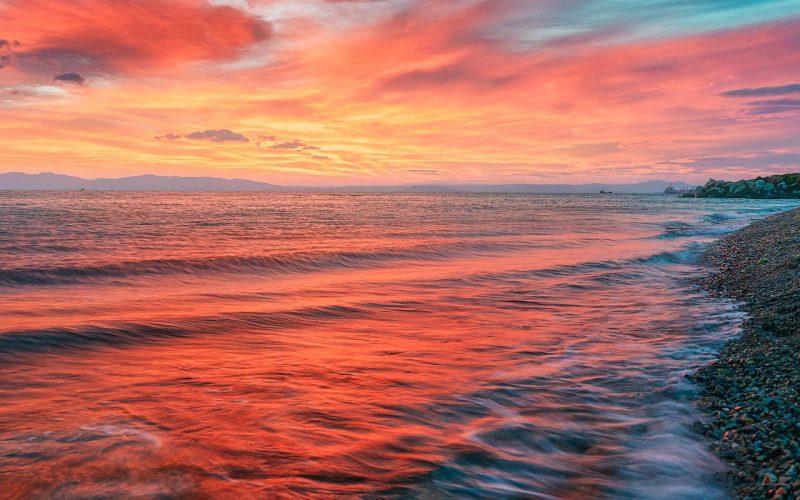 Японское море рассвет
