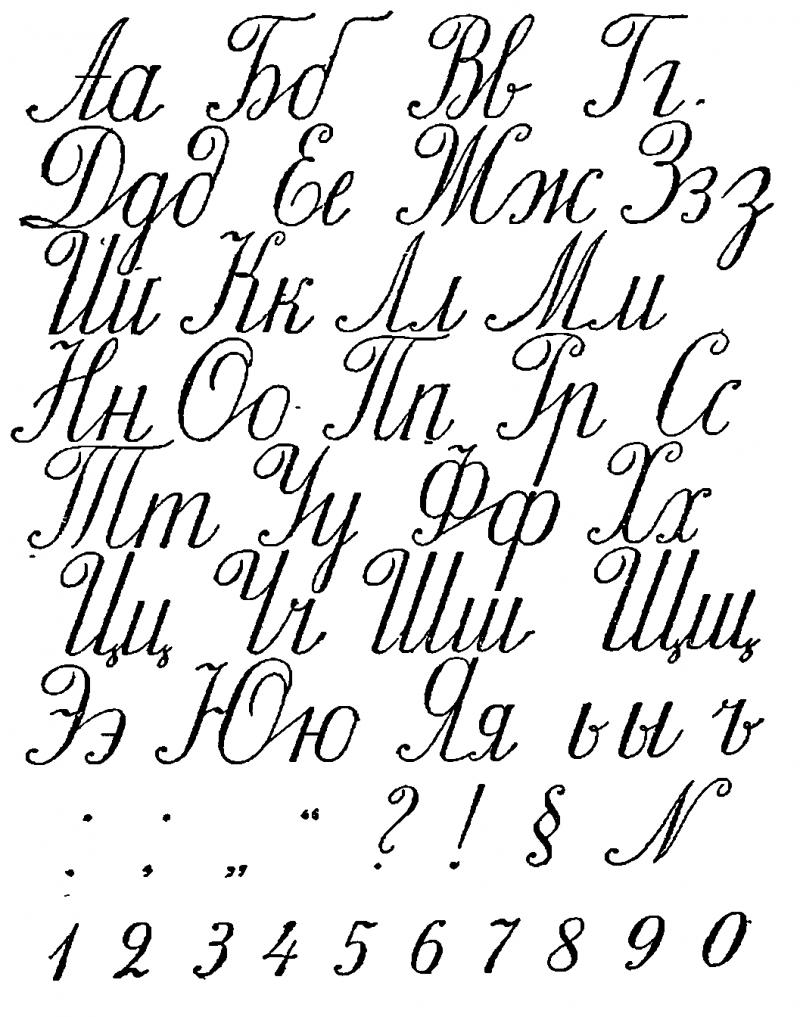 Алфавит кирилличной каллиграфии