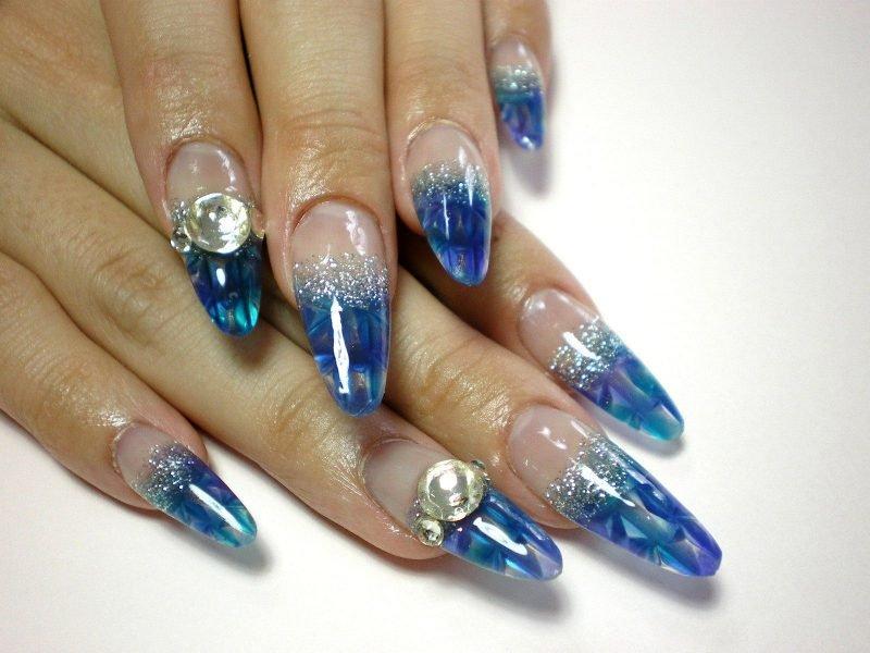 Красивые ногти. Аквариум.