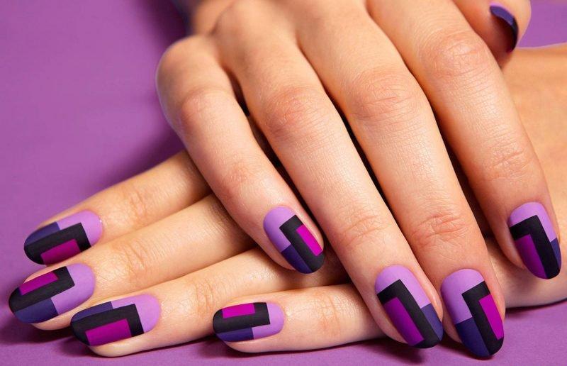 Красивые ногти. Геометрия.