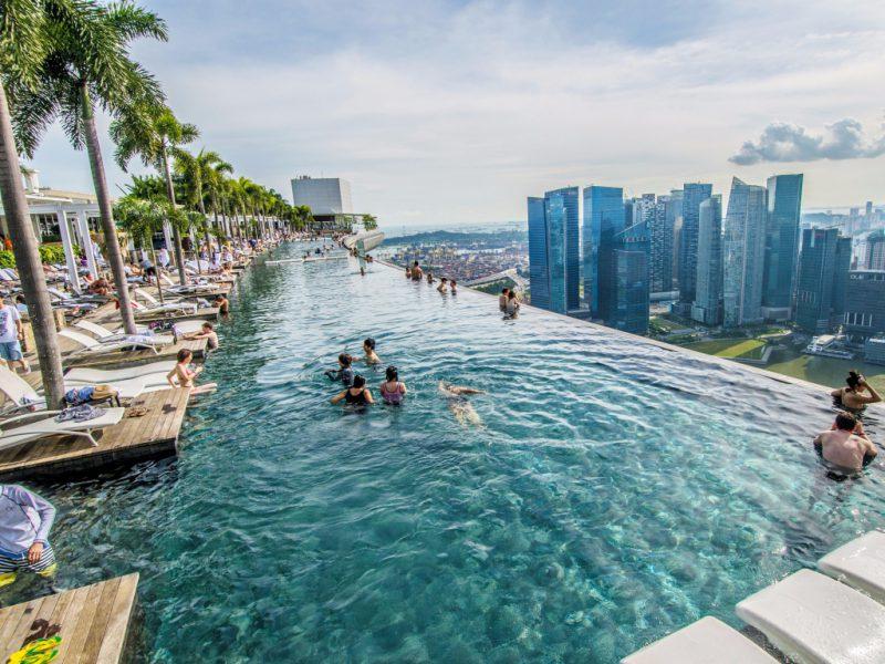 Marina Bay Sands бассейн