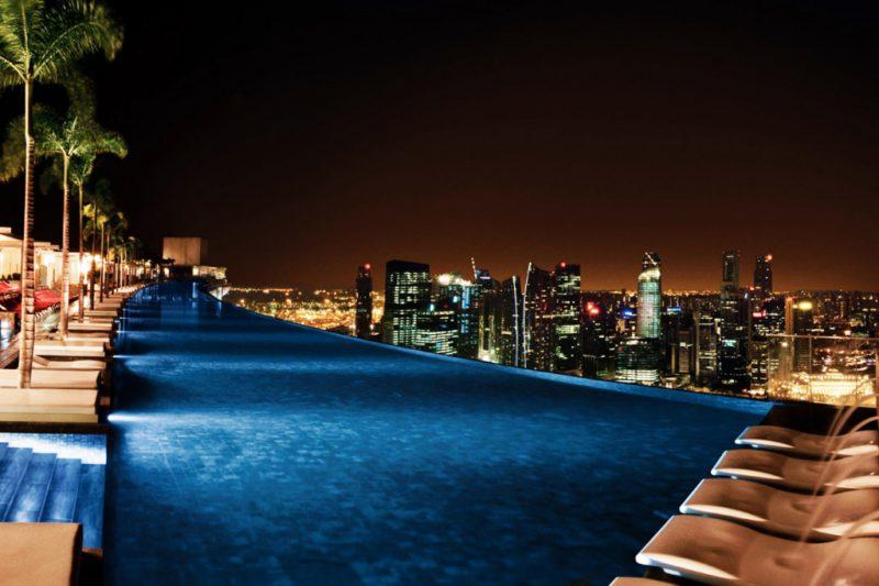 Marina Bay Sands ночь