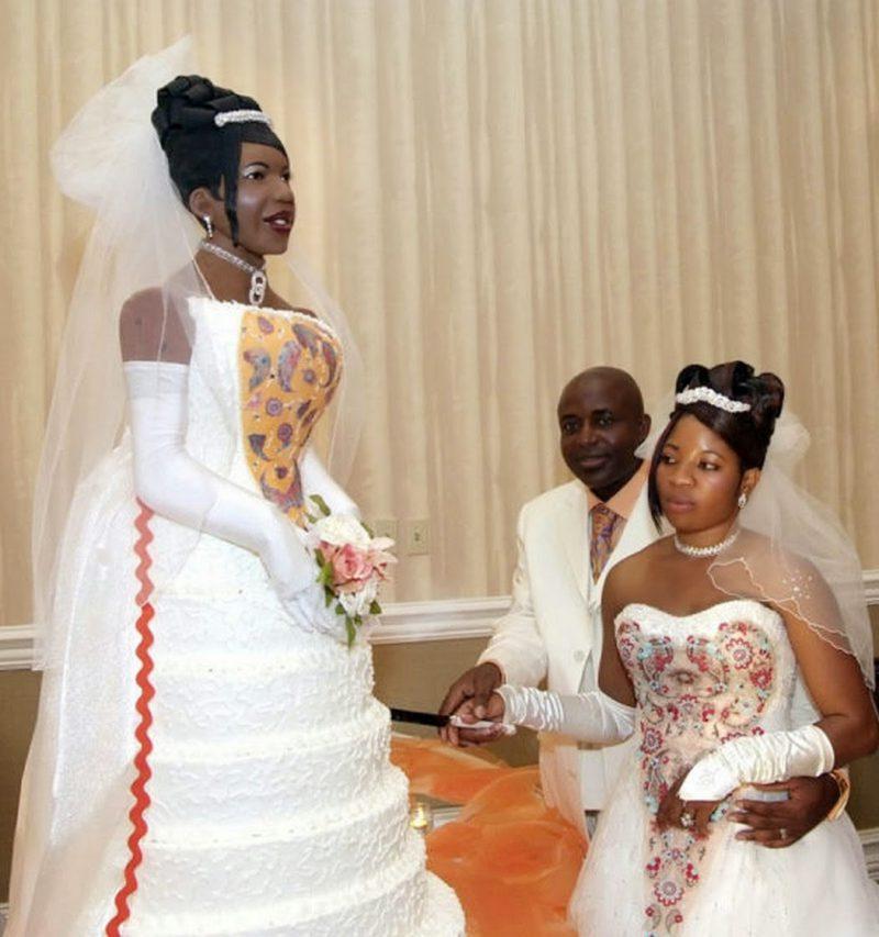 свадебный торт девушка