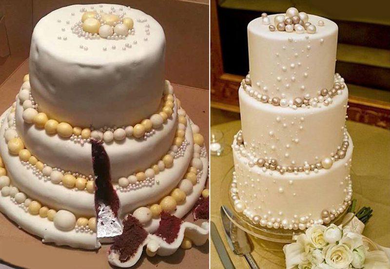 свадьба торт ожидание реальность