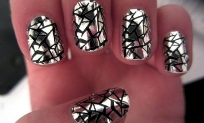 Красивые ногти. Мозаика.
