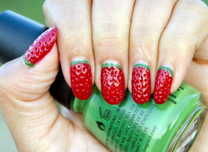 Красивые ногти. Объемный декор.