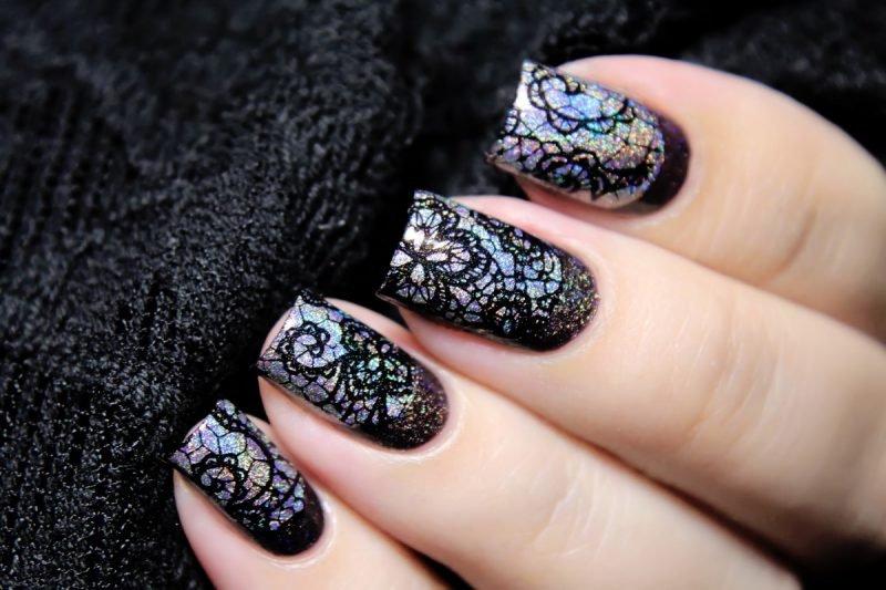 Красивые ногти. Кружево.