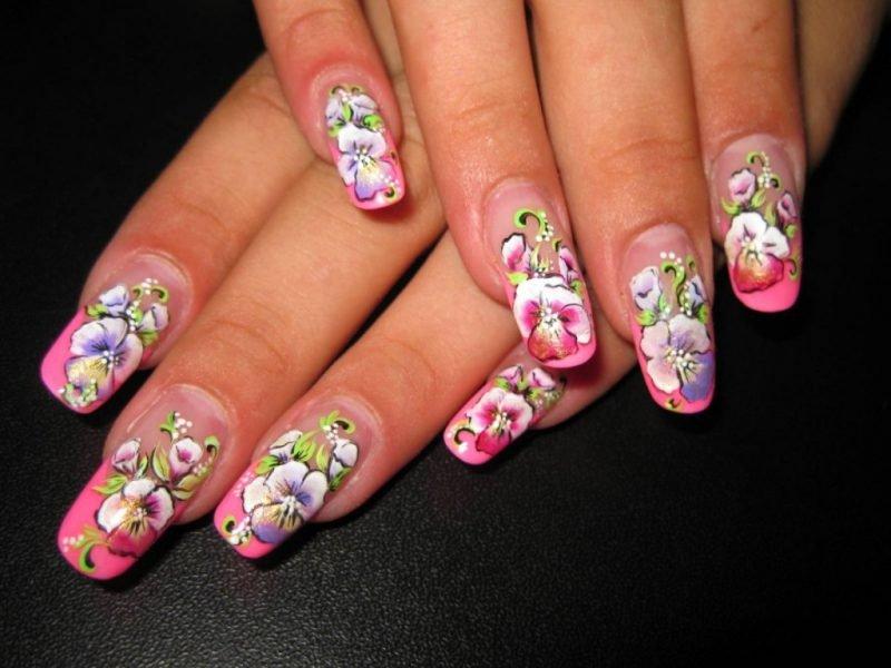 Красивые ногти. Плоскостная роспись.