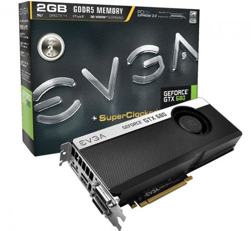 видеокарта EVGA GeForce GTX 680
