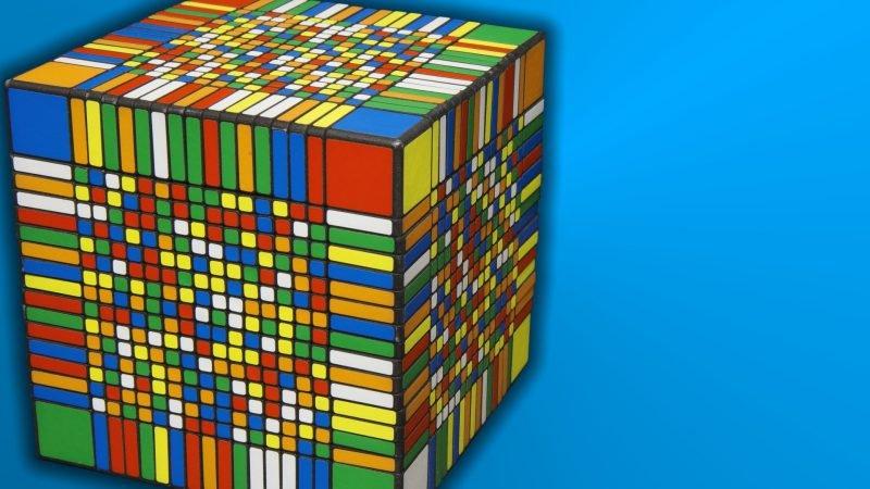 Самый большой кубик Рубика в мире