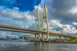 Самые длинные мосты в Санкт-Петербурге
