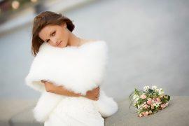 Свадебное платье на холодную погоду