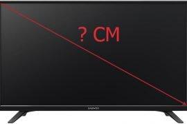 Телевизор 32 дюйма – сколько это см?